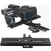 Fotomate LP-02 200mm Range 2-Way Macro Focusing Rail Slider Plate 1/4 Screw for DSLR Camera