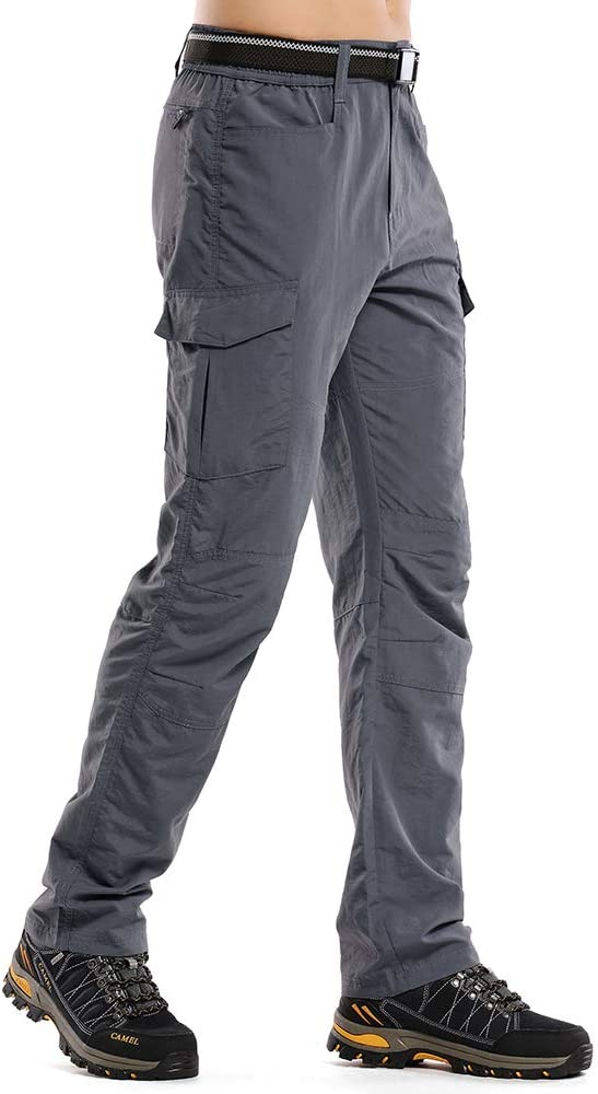 Asfixiado Hiking Pants Mens Quick Dry Lightweight Water Repellent Fishing Camping UPF 50+ Cargo Pants