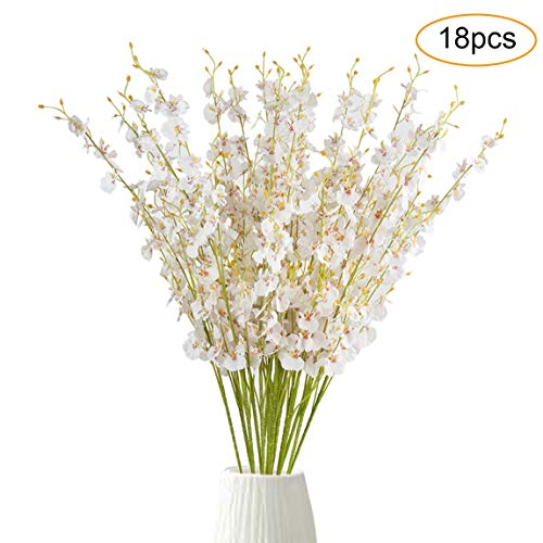 PiXiu-XP 18pcs Artificial Dancing Lady Orchid Flower 39.4