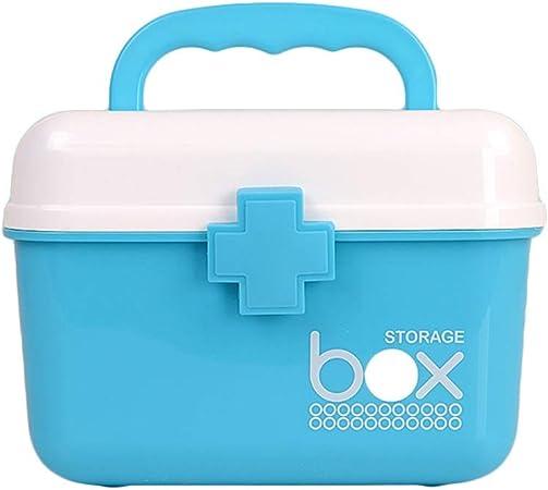 Botiquín Estuche de Primeros Auxilios Caja de medicamentos para el hogar Caja de Primeros Auxilios para medicamentos pequeños Caja de Almacenamiento de medicamentos Portátil portátil LCSHAN: Amazon.es: Hogar