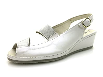 Aco Sandalette mit Perlmutt-Schimmer, weiß, weiß
