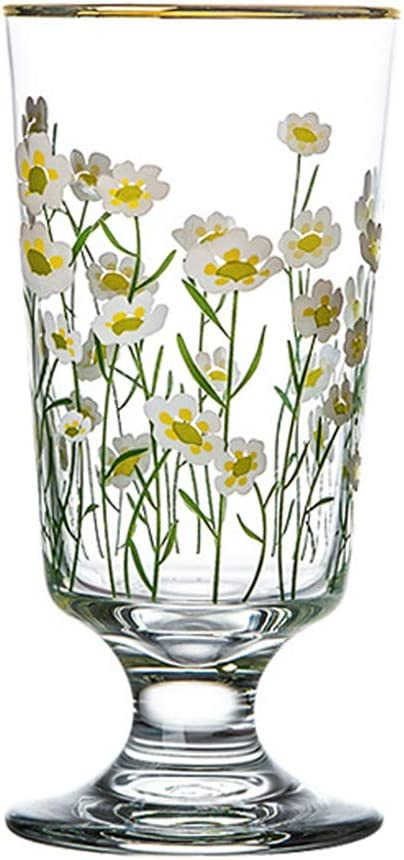 Amazon Com Longjet All Purpose Crystal Drinking Glasses Cups 10 Ounce Daisy Wine Glasses