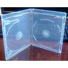 New 12.5 mm Clear Viva Elite Blu-Ray Double Case Box Standard Size Hold 2 Discs (Pack of 6)