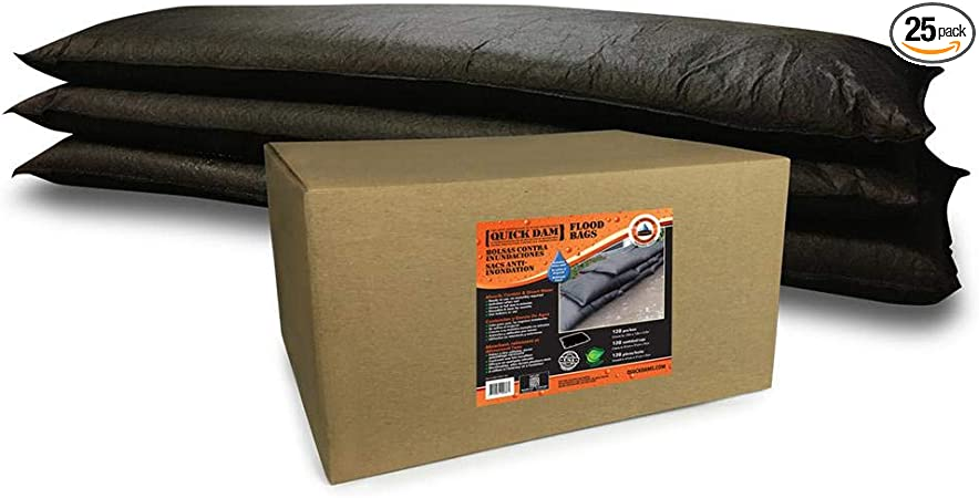 Quick Dam QD1224-2 Water Activated Flood Bags 2//Pack Black