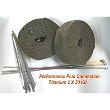 Vulcan Titanium Ultimate Exhaust Header Wrap 2X50 Lava Fiber Kit