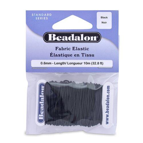 UPC 035926101999, Beadalon Fabric Elastic, .6mm 32-Feet/Pkg, Black