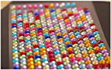 DoTebpa 4032 Pieces 6mm Colorful Bling Rhinestone