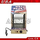 Stainless Hot Dog Food Warmer 110v Commercial Steel Cabinet