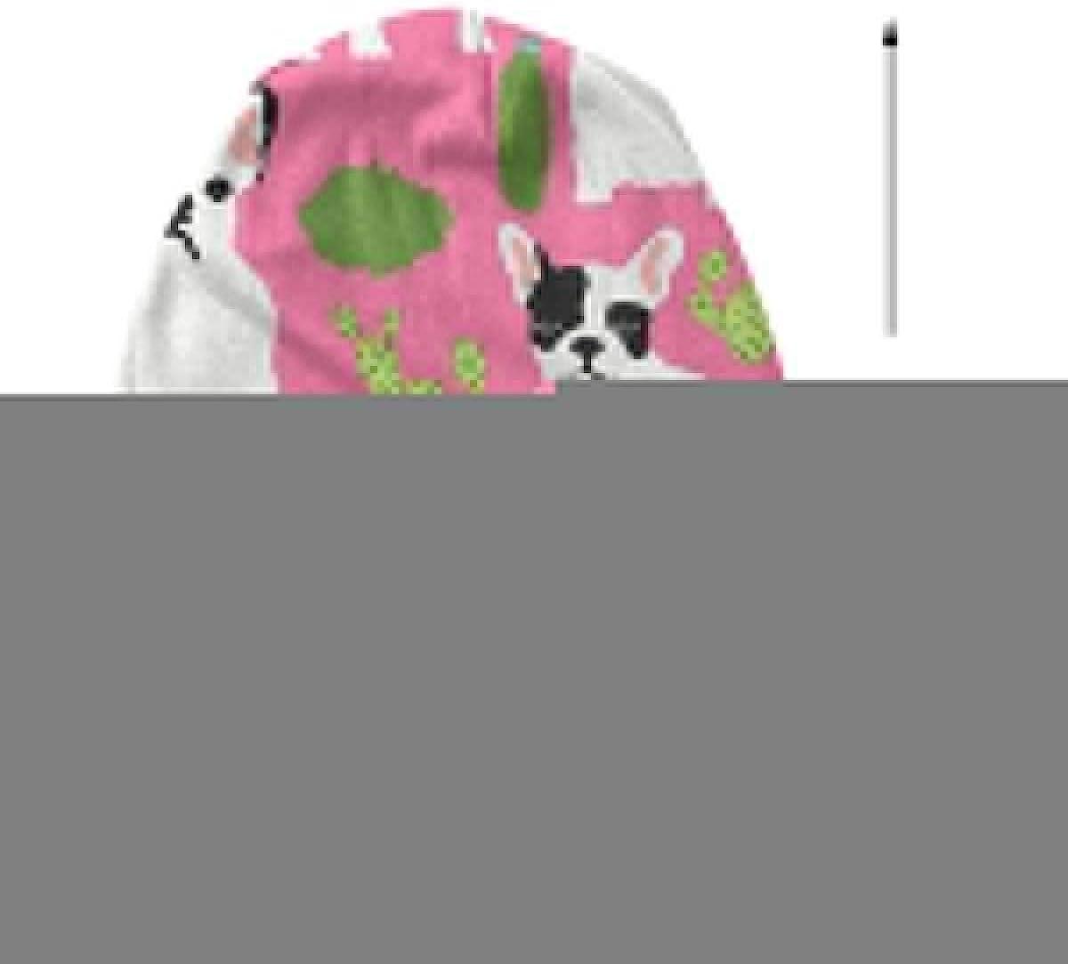 HHTZTCL Cute French Bulldog and Cactus Mens Womens Winter Beanies Knit Hat Stretch Skull Cap Black