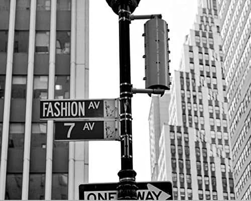 Amazon.com: Fashion Avenue Street Sign Photography Print