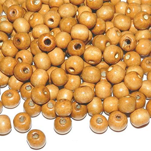 Bead Jewelry Making Brown 10mm Semi- Round Wood Craft Beads 4oz (360pcs) - Light Brown Wood Beads