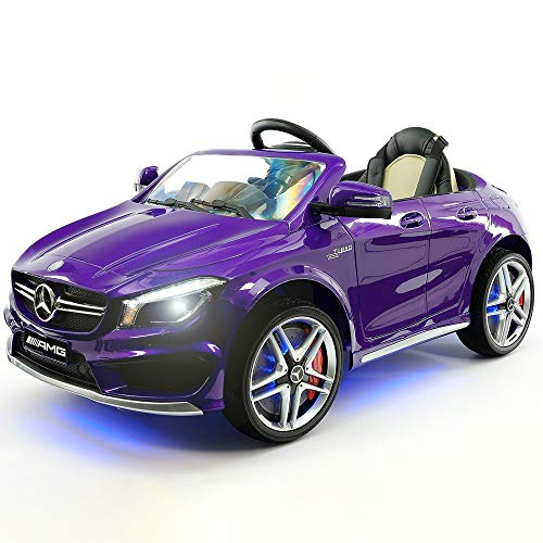 2019 Mercedes Benz CLA 12V Ride On Car for Kids | 12V Engine Power Licensed Kid Car to Drive with Remote, Dining Table, Leather Seat, Openable Doors, LED Lights (Best 4 Wheel Drive Cars 2019)