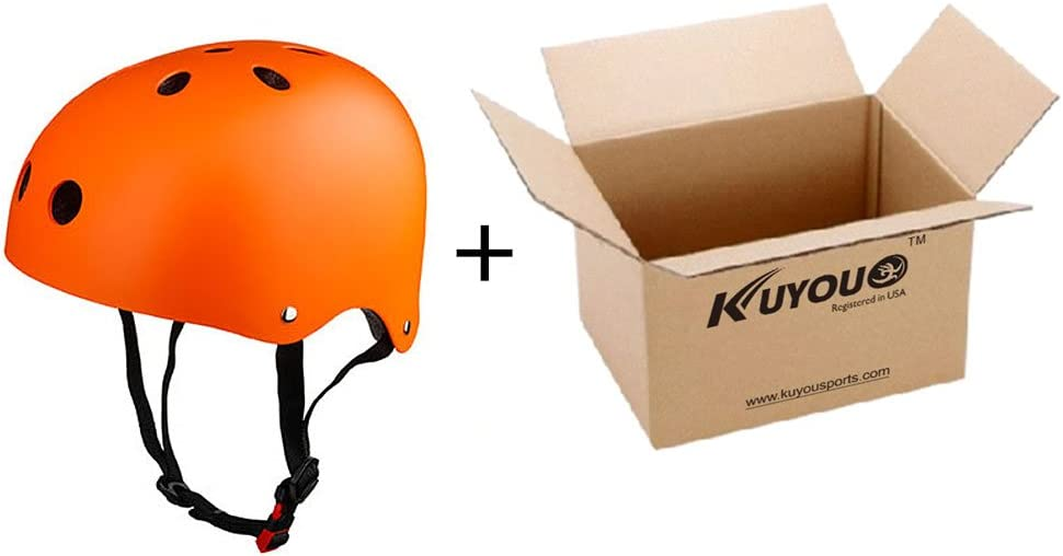 Kuyou Helmet ABS Shell for Skateboard//Ski//Skating//Roller Protective Gear Suitable Kids and Youth,Adult 3 Size.