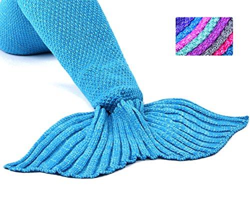Laghcat Mermaid Tail Blanket Crochet Mermaid Blanket For Adult Soft