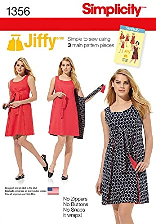 Simplicity Damen Easy Schnittmuster 1356 Vintage Stil Wrap über ...