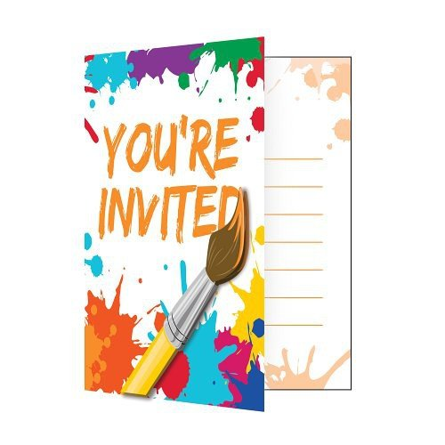 [Art Party Invitations (8 ct)] (Childrens Costume Party Invitations)