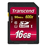 Transcend 16 GB High Speed Class 10 UHS Flash Memory Card TS16GSDHC10U1E 85/30 MB/s