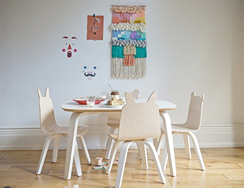 Oeuf Bear Play Chairs and Table Set in Walnut by Oeuf Nursery Cribs and Furniture