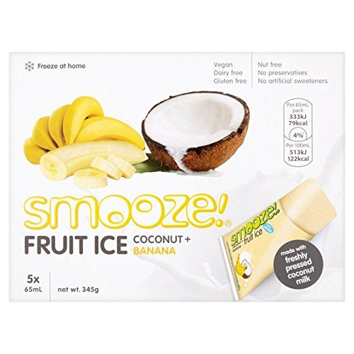 Smooze Banana Fruit Ice Lollies - 5 x 65ml (10.99fl oz)