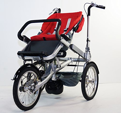 Red Family Stroller Bike for Children 6 Months to 5 Years of Age MCB-01S ALU by USA-MEGASTORE