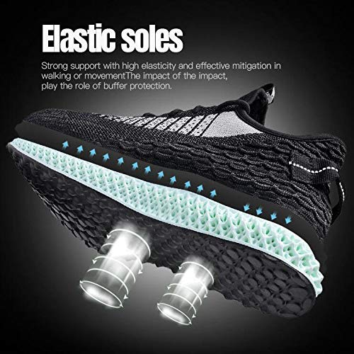 Basket Scarpe In Uomo Sport Training Sneakers Walking Sport traspirante da corsa Fashion Light Blackred wnS57q7R