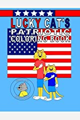 Lucky Cat's Patriotic Coloring Book Paperback