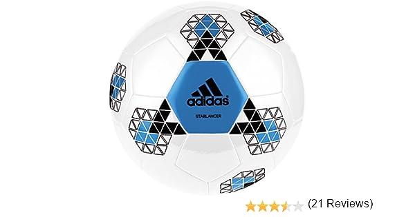 adidas Starlancer V Balón de fútbol, Hombre, Blanco (Blanco/Azuimp ...