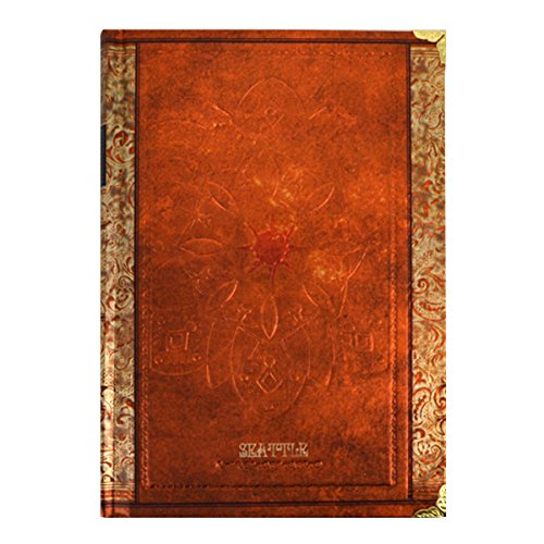 CLARA Retro Hardcover Embossed Notebook Lined Page Notepad Writing Diary Journal with Floral Edge Brown