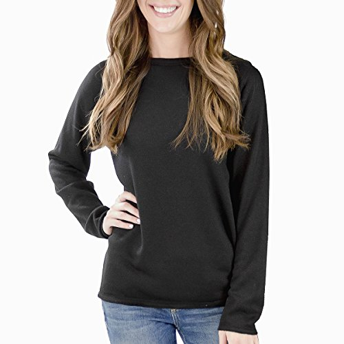 EmiJay Inc Womens Smoosh Sweatshirt Large/Xlarge Black by EmiJay Inc (Image #1)