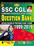 Kiran's SSC CGL Combined Graduate Level Exams Question Bank 1999-2019 ( Solved Papers of Previous Year Exams)—English(2625)
