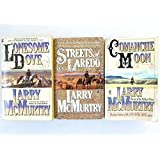 3 Book Set By Larrt McMurtry Lonsome Dove Series~Lonesome Dove/Streets of Laredo/Comanche Moon