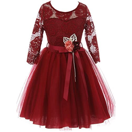 ef8af4a7709 BNY Corner Floral Lace Top Tulle Flower Holiday Party Flower Girl Dress USA