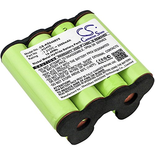 CameronSino Replacement Battery for AEG Electrolux AG406,ZB4106WD Backup Battery 2000mAh /14.4Wh /7.2V, Green
