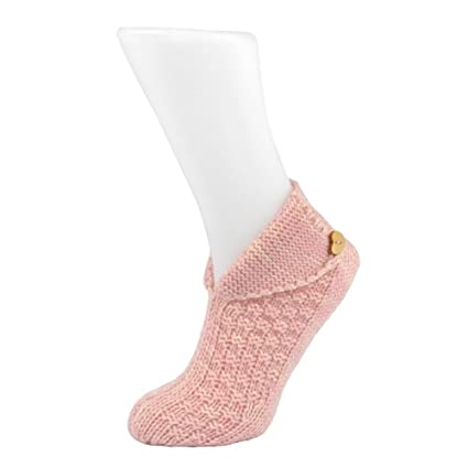 Cosy Toes Cream Knit Ladies Ankle Boot Slipper Socks Size UK 4-7