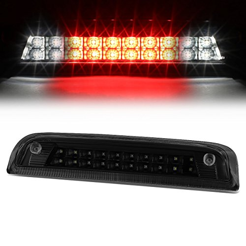 GMC Sierra / Chevy Silverado Dual Row LED Third Brake Lights Lamps (Black Housing / Smoked Lens) GMT K2XX - Back Lamp