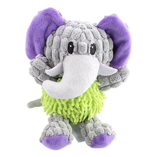 IFOYO Dog Plush Toy, Pet Dog Toy Tough Dog Squeaky Toy Cute Dog Teething Toy for Medium Small Dogs, Elephant ()