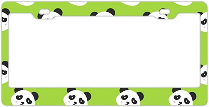 SAVE THE PANDAS ANIMAL Metal License Plate Frame Tag Holder