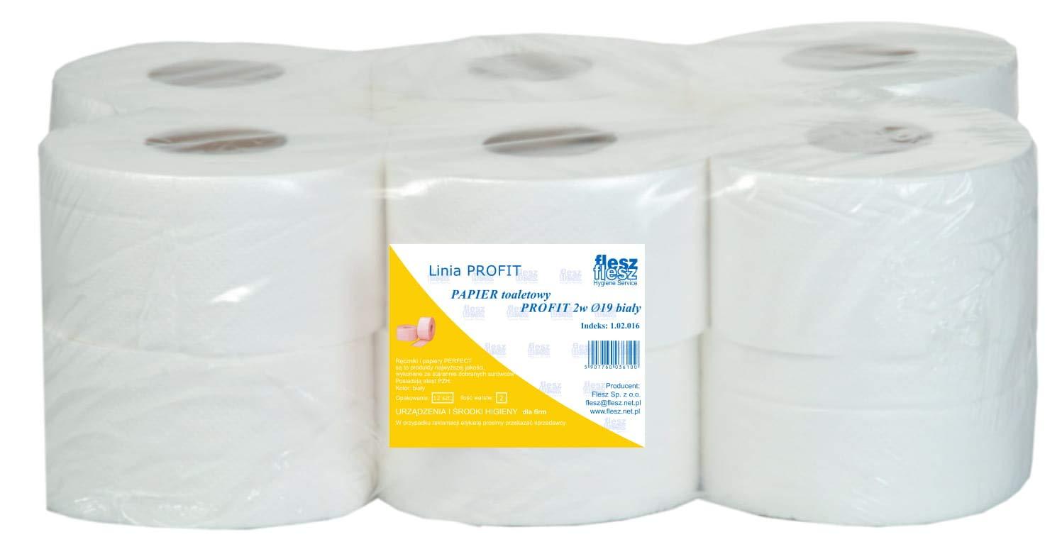 Jumbo Papier toilette double épaisseur Blanc naturel 130 m FLESZ LTD