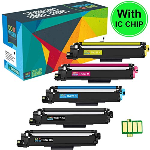 Do it Wiser with CHIP Compatible Toner Cartridge Replacement Brother TN227 TN227BK TN223 TN223BK for Brother HL-L3210CW HL-L3230CDW HL-L3270CDW HL-L3290CDW MFC-L3710CW MFC-L3770CDW (High Yield ()