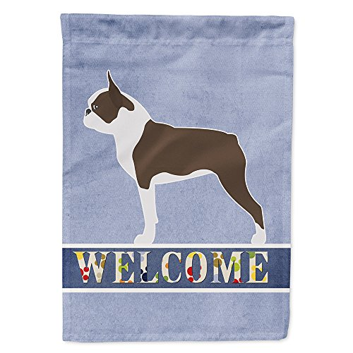 Caroline's Treasures BB5548GF Boston Terrier Garden Size Welcome Flag, Small, Multicolor
