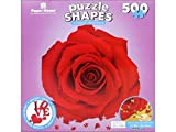 Paper House Productions Jigsaw Shaped Puzzle 24 by 23-Inch, Red Rose (500 Pieces)
