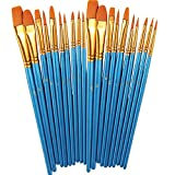 Paint Brush Set by heartybay, 2Pack 20 Pcs Nylon