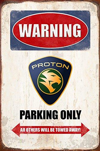 Schatzmix Warning Proton Parking only blechschild