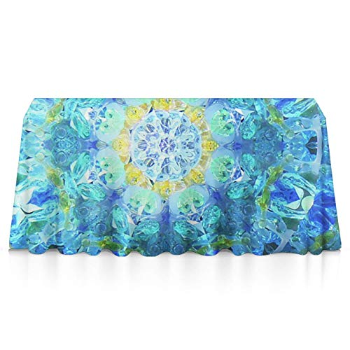 NiYoung Premium Waterproof Table Covers, Rectangular 3D Print Magical Tie Dye Flower Table Covers, Dust-Proof Stain Resistant Table Protectors - Glam Wedding Decor (Tie Dye Toothbrush)
