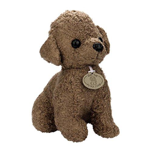 Plush Toy, Staron Soft Dog Plush Toy Stuffed Animal Puppy Doll Plush Puppet Doll Toys Gift for Birthday / Christmas / Valentine's Day / Wedding Anniversary, 25cm (Brown❤️) -