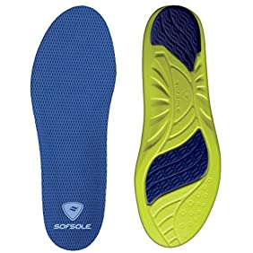 Sof Sole Athlete Full Length Comfort Neutral Arch Replacement Shoe Insole/Insert