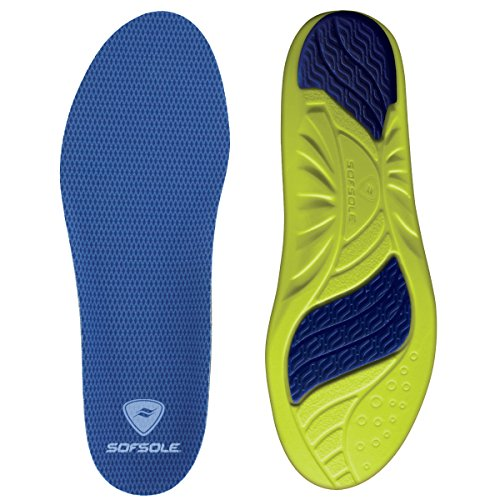 Sof Sole Mens Athlete Lightweight Performance Replacement Shoe Insole / Insert, Foot Size 13-14 (2 Pack)