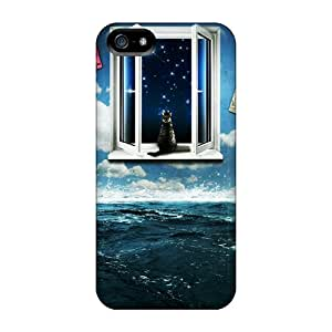 Excellent Iphone 5/5s Cases Tpu Covers Back Skin Protector Digital 3d Cgi