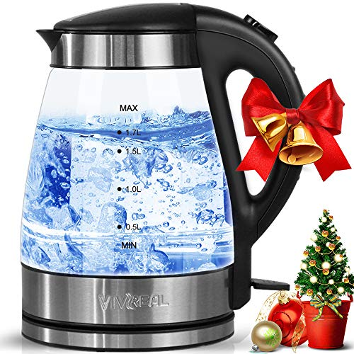 Clear Glass Kettle With Led Lights in US - 7