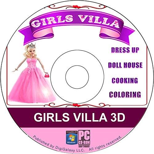 Girls Villa 3D Games - DressUp, DollHouse, Cooking, Coloring Games (Original) (PC Game) -